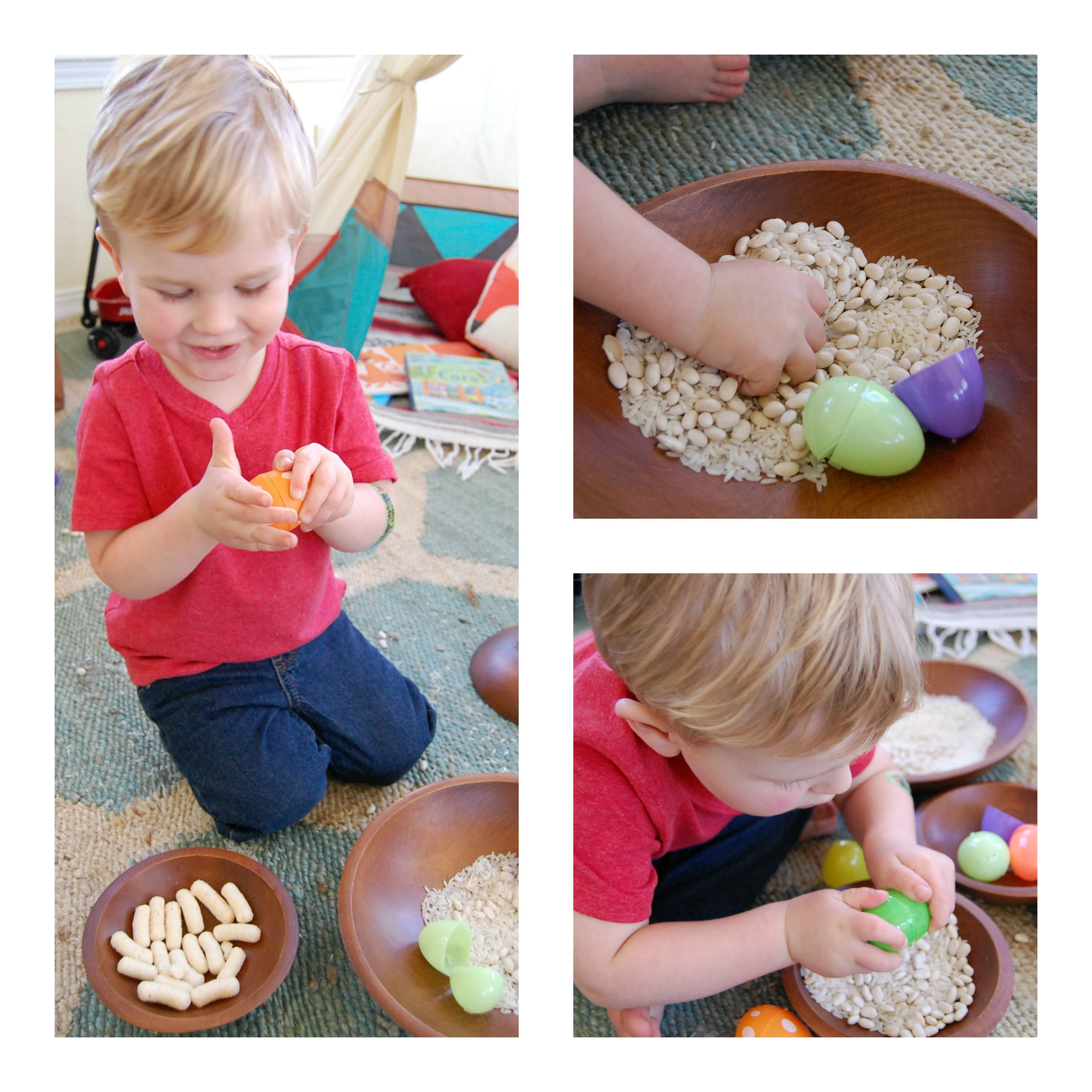 Rice & Bean Easter Egg Shakers
