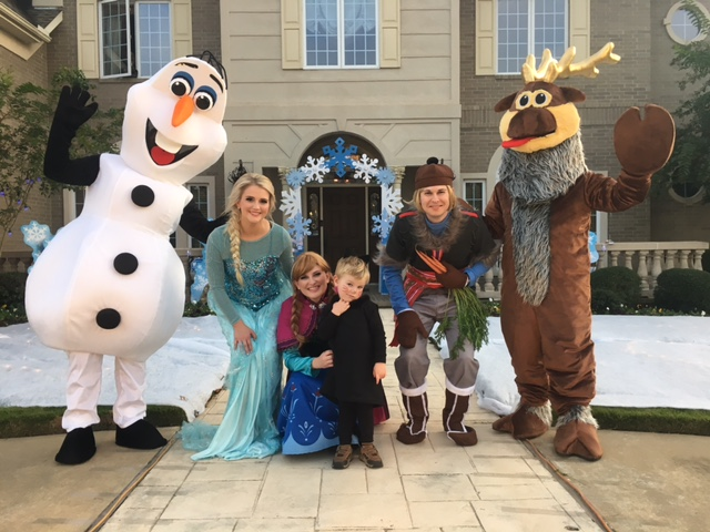 A frozen themed house set up just for Halloween!