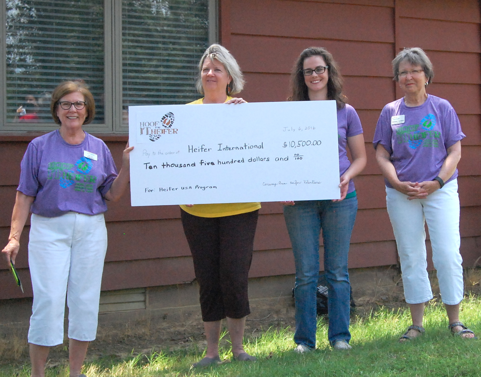 We presented a check to Heifer USA for more than $10,000, the proceeds from the 2016 Hoof it for Heifer Trail Run!