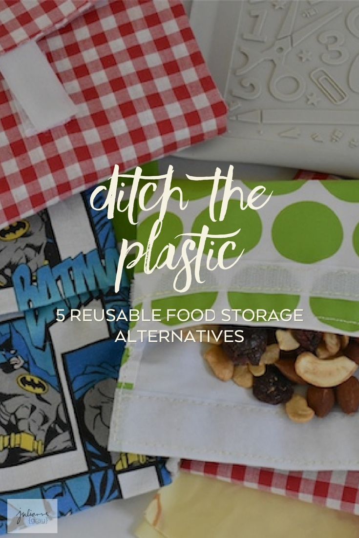 Five handpicked reusable food storage options for in the kitchen and on the go. Safe, simple alternatives to common disposable items in your home.
