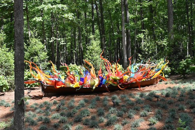 Chihuly in the Forest at Crystal Bridges August 16-November 13