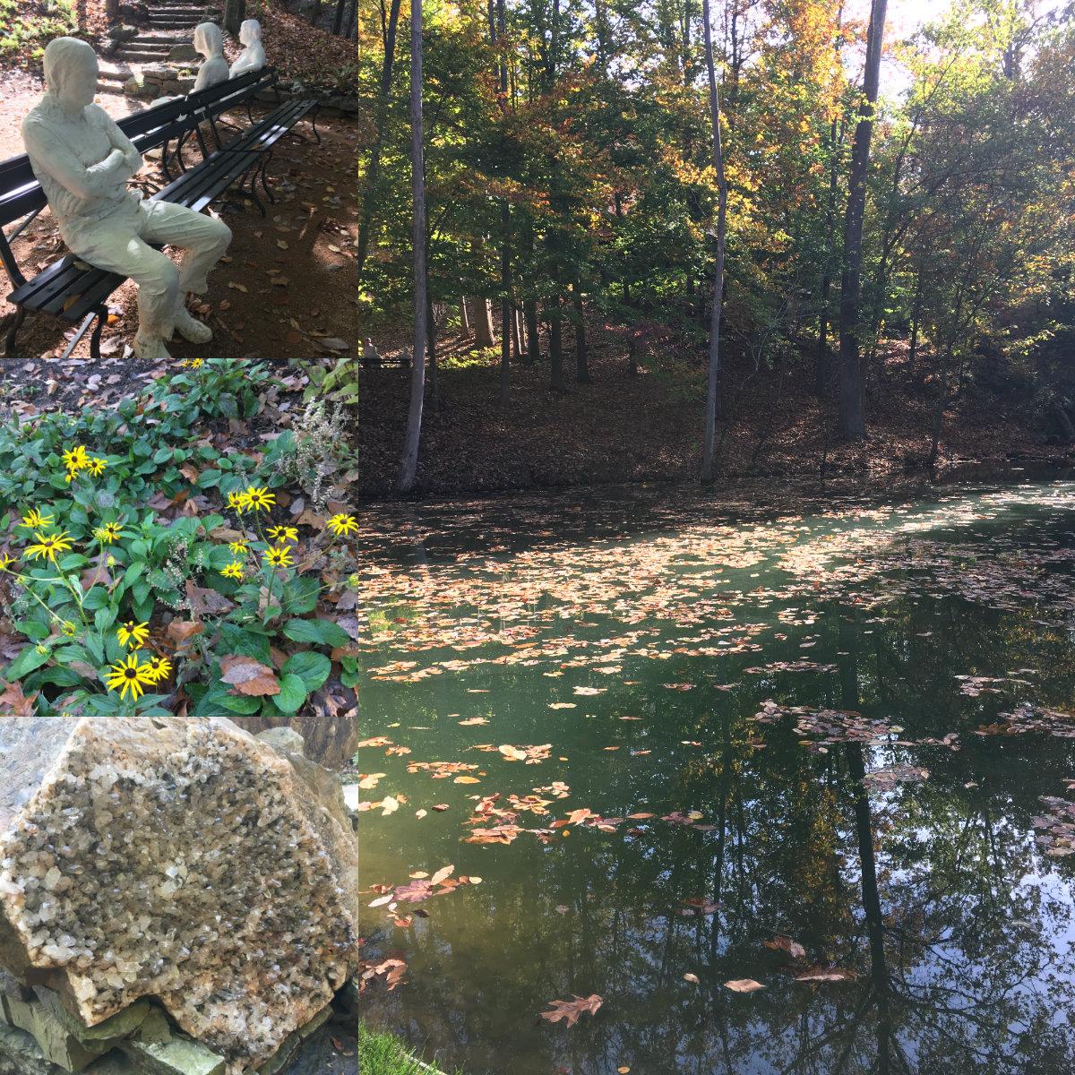 Sights along the Art Trail at Crystal Bridges