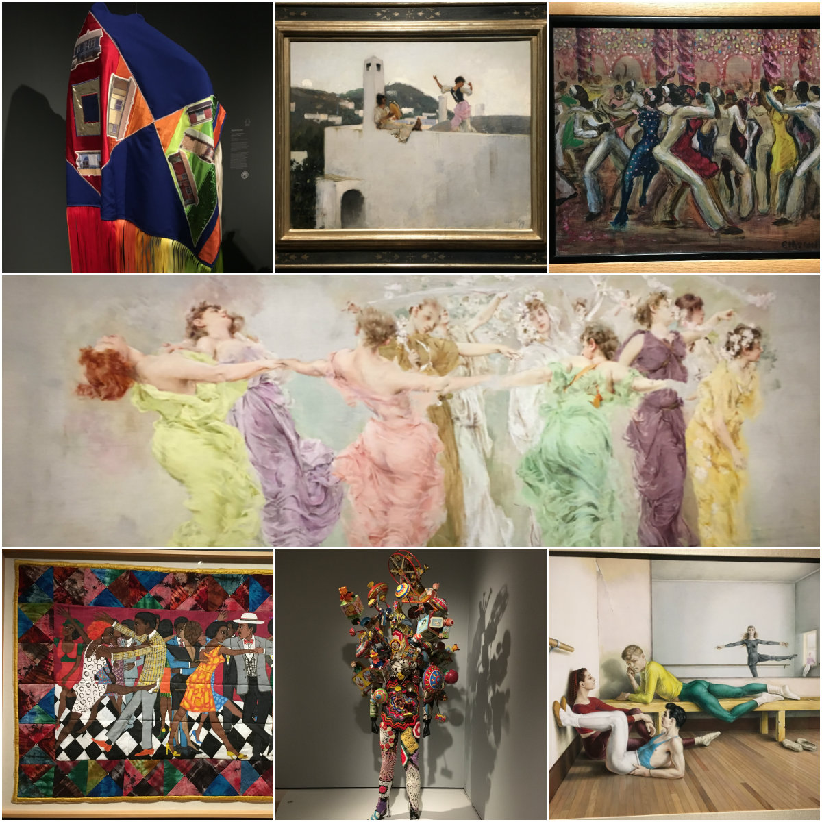 Art featured in the traveling exhibit Art of the American Dance at Crystal Bridges